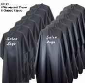 Branding Kit #1: 6 Waterproof Capes/6 Classic Capes- $29.95 each